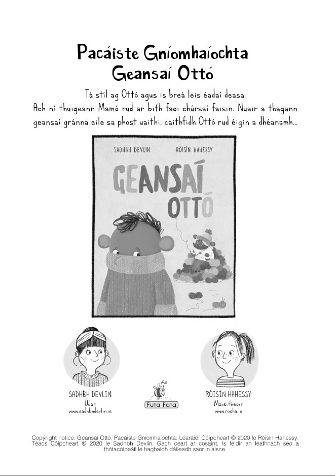 Geansaí Ottó activity pack